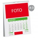 Calendario pared wire-o A-3
